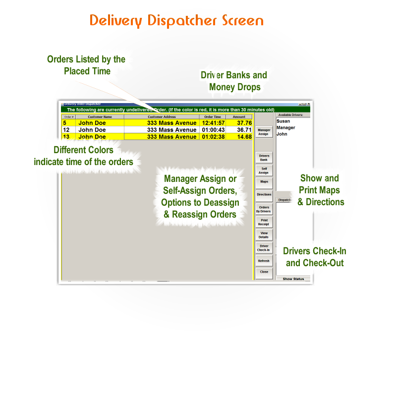 POS Delivery Dispatcher